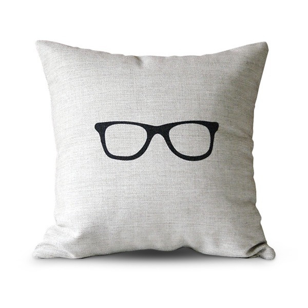 "Cotton and Flax Pillow Case, 18"" Square, Sunglasses"