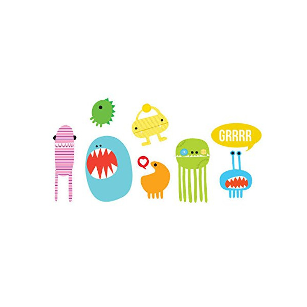 Tattly Temporary Tattoos Monster Set-Colorful Silly Monsters