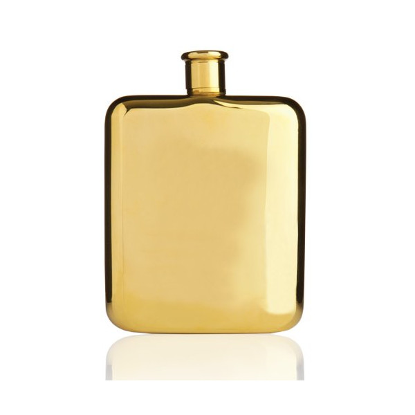 True Fabrications Belmont Gold Plated Flask