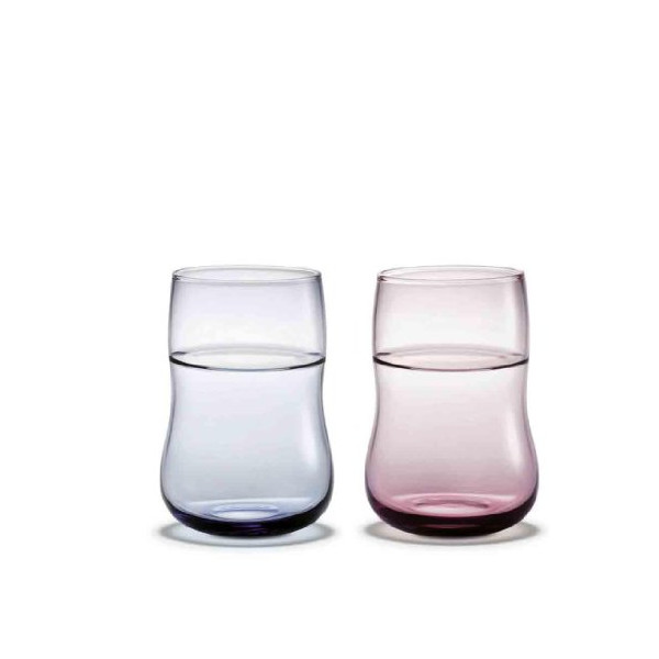 Future Color Glass Set blue/lavender/2 pieces/25cl