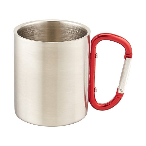 Outdoor RX Stainless Steel Carabiner Mug (Red, 8-Ounce)
