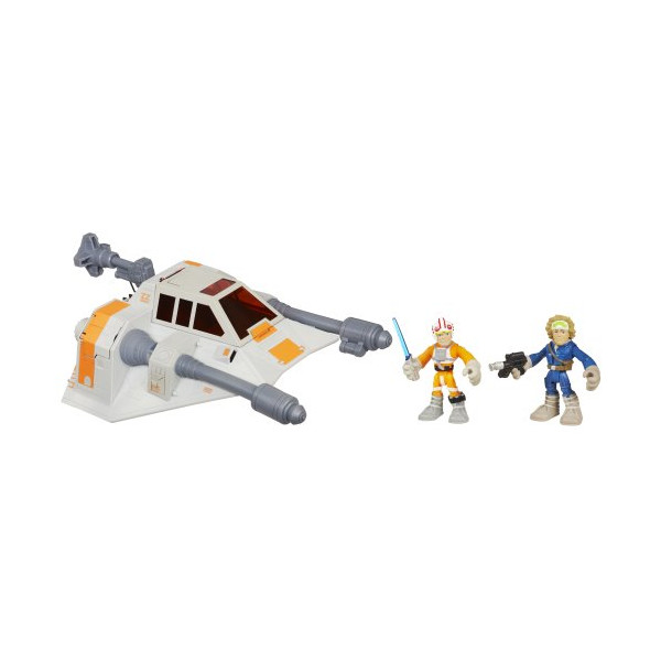 Playskool Heroes, Star Wars, Jedi Force, Snowspeeder with Luke Skywalker and Han Solo (Hoth Gear) Action Figures