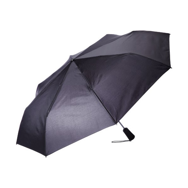 Totes Titan Men's Super Strong Auto Open Close Compact Umbrella, Black, One Size