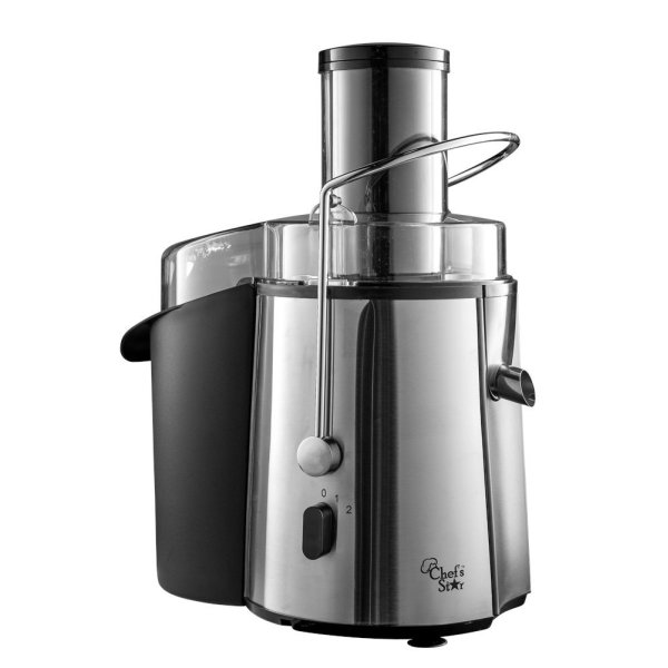 Chef's Star Juicer Wide Mouth Fruit & Vegetable Juice Extractor - Stainless Steel