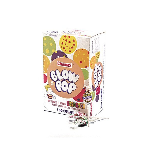 Blow Pop, Assorted, 100-Count Pops