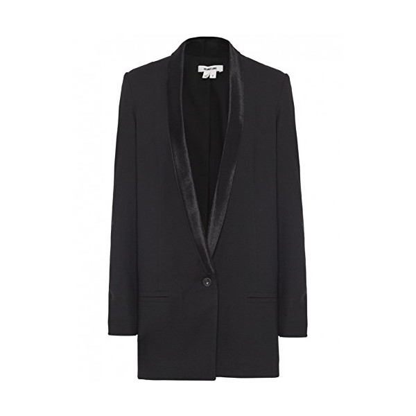 Helmut Lang Women's Fur Panelled Blazer UK 14 Black