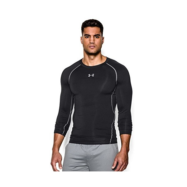Under Armour Men's HeatGear Long Sleeve Compression Shirt, Black (001), Medium