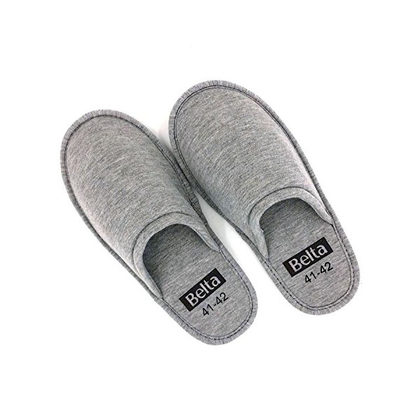 Sunshine Code Women's Cotton Indoor Slippers Spa House Slippers, L, Gray