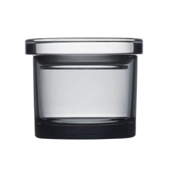Iittala Small Wide Glass Jar, Gray