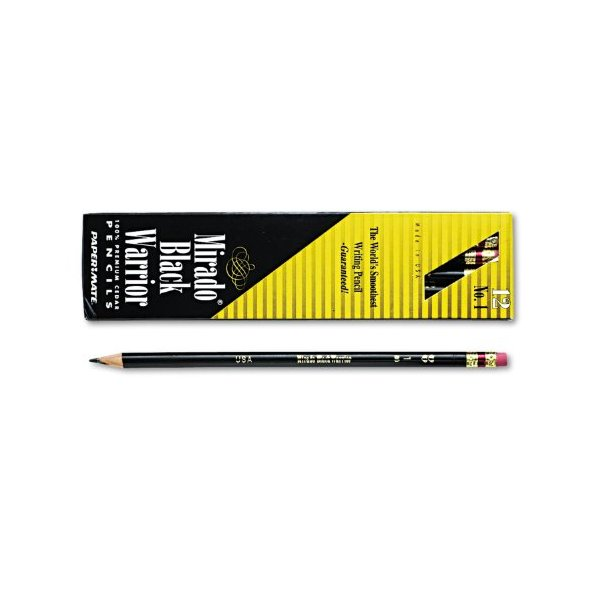 Paper Mate 12 Count #2 Mirado Black Warrior Lead Pencils, Medium Soft (2254)