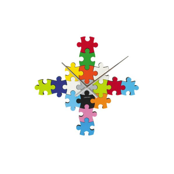 Karlsson Wall Clock Puzzle Multi Color