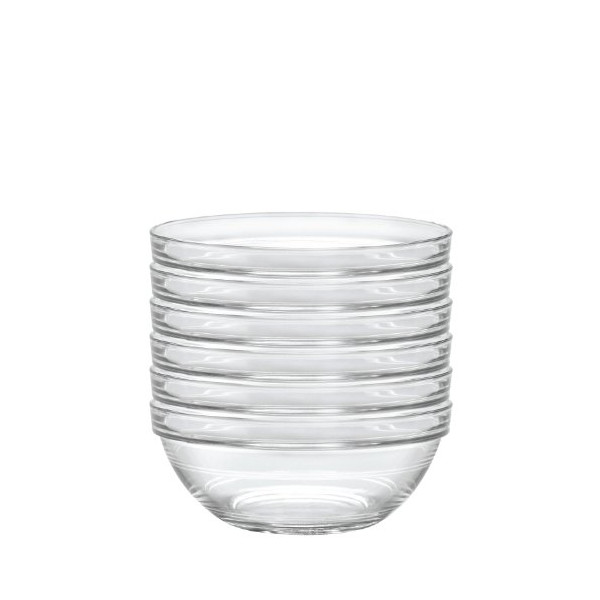 Duralex Lys 6-3/4-Inch Stackable Clear Bowl, Set of 6
