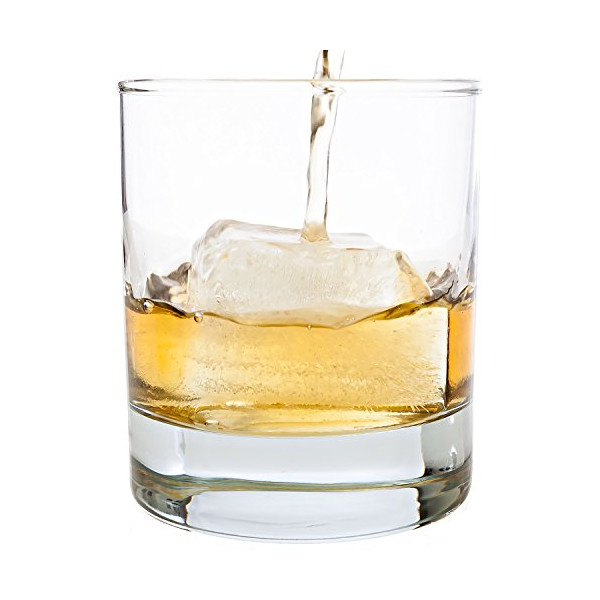 Taylor'd Milestones ~ Scotch Glasses - 10 oz Set Of 2 Diamond Etched Strong Old Fashioned Whiskey Glass with Heavy Sham. Traditionally Crafted with Clean, Straight Lines. Crystal Clear - 2 Piece Gift Set Tastefully Designed to Impress and Serve with Style