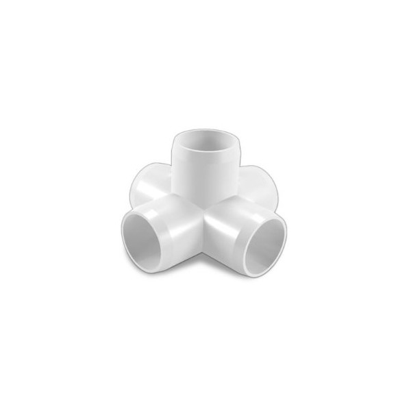 "FORMUFIT 1"" 5-way Cross PVC Fitting Connector - Furniture Grade"