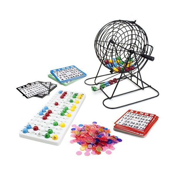 Royal Bingo Supplies Jumbo Bingo Game with 100 Bingo Cards, 500 Bingo Chips and 9'' Drum