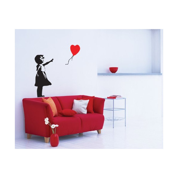 Banksy Balloon Girl Wall Sticker Decal 36cmx35cm