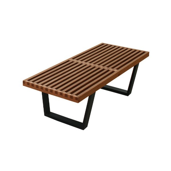 "Aeon Furniture CT3005ASW009 American Walnut Natural 48"" Slat Bench CT3005ASW00"