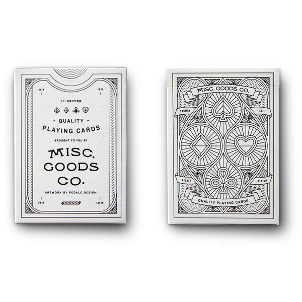 White Misc. Goods Co. Playing Cards Deck Printed By Uspcc