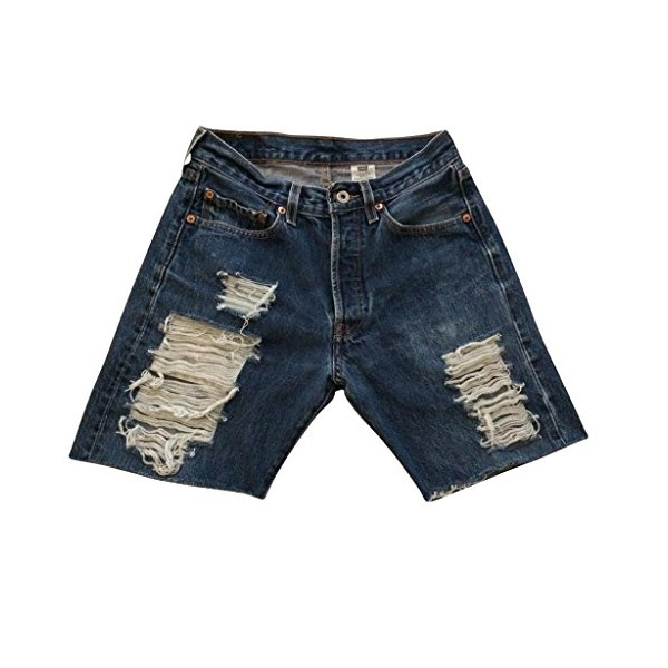 Women's Vintage Levi's Distressed Stevie Denim Shorts Shredded High Waisted-XL