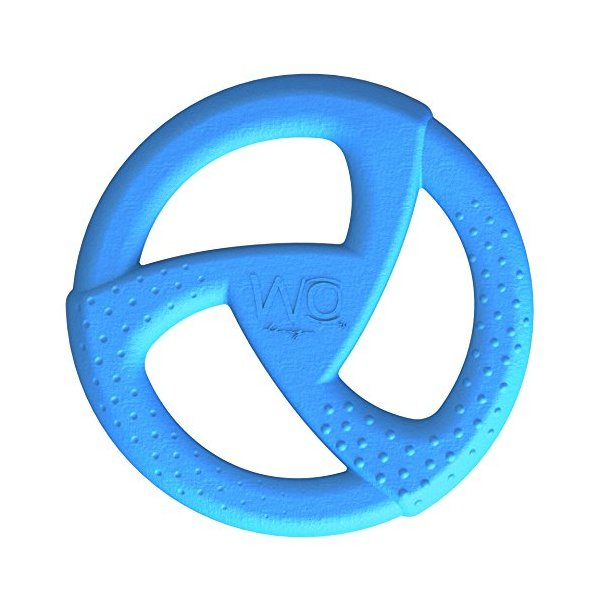 WO Design WO Disc USA-Made Dog Frisbee, Blue