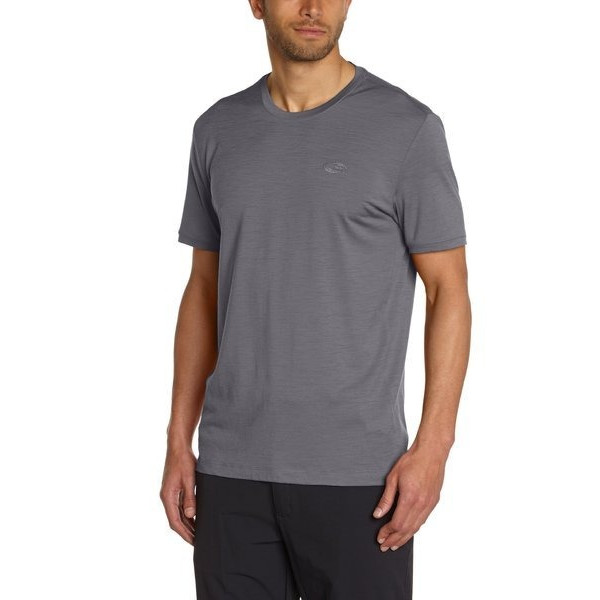 Icebreaker Men's Tech T Lite Short Sleeve Tee, Fossil
