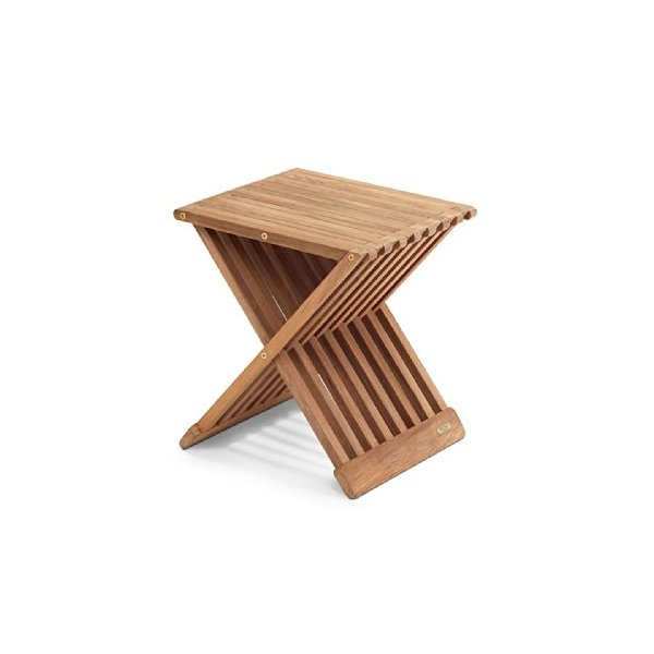 X-Shape Teak End Table / Stool