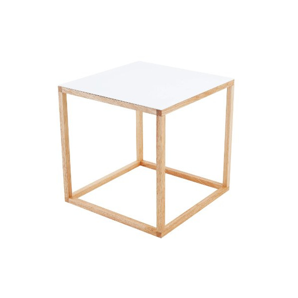 Present Time Leitmotiv Cubo Table, White