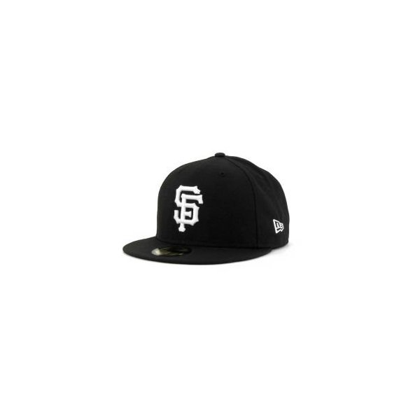 New Era San Francisco Giants Mlb Fitted Cap Black 7 3/8