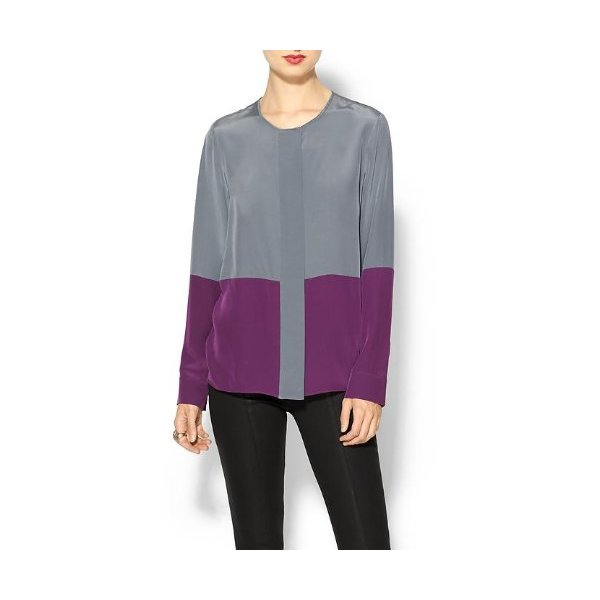 10 Crosby Derek Lam Long Sleeve Silk Blouse