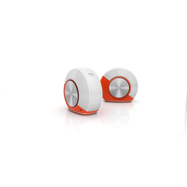 JBL Pebbles Plug and Play Stereo Computer Speakers - Orange
