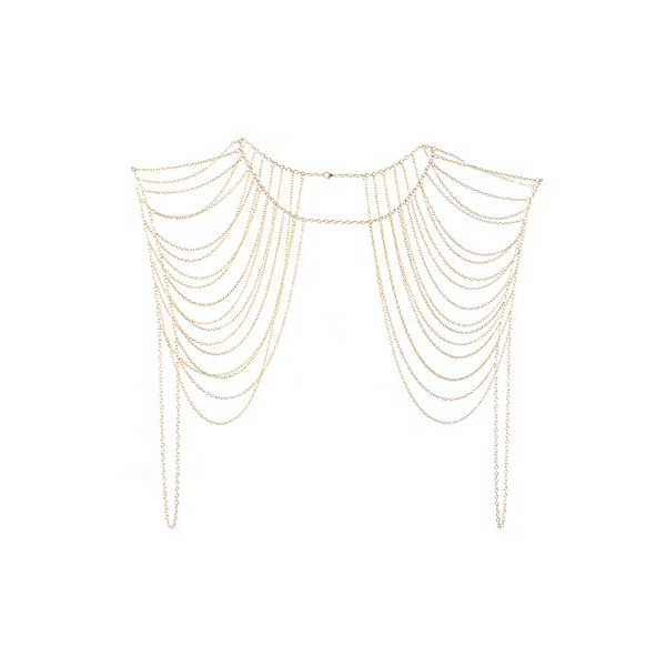 Imixlot® Sexy Charm Gold Tassels Link Body Shoulder Crossover Harness Body Chain
