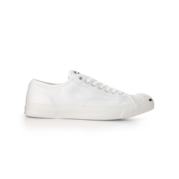 Converse Unisex-Adult Jack Purcell Leather White Leather Fashion-Sneakers 6 UK 6 F(M) UK
