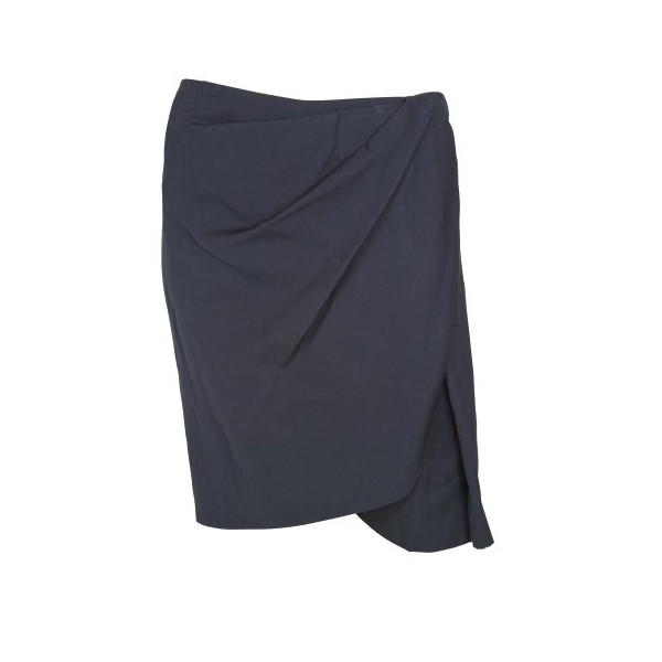 3.1 Phillip Lim Womens Navy Blue Draped Front Wrap Skirt 8