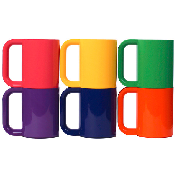Heller Dinnerware Vignelli Rainbow Mug, Set of 6
