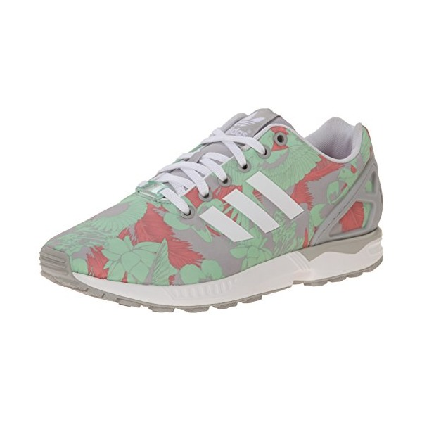 adidas Originals Women's ZX Flux W Lace-Up Fashion Sneaker, Clear Onyx/White/Vista Pink, 7.5 M US