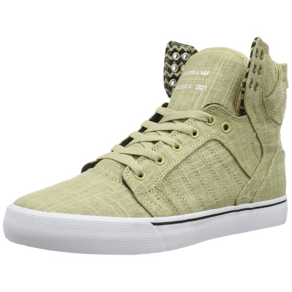 Supra- Mens Skytop Shoes, Pale Khaki, 15