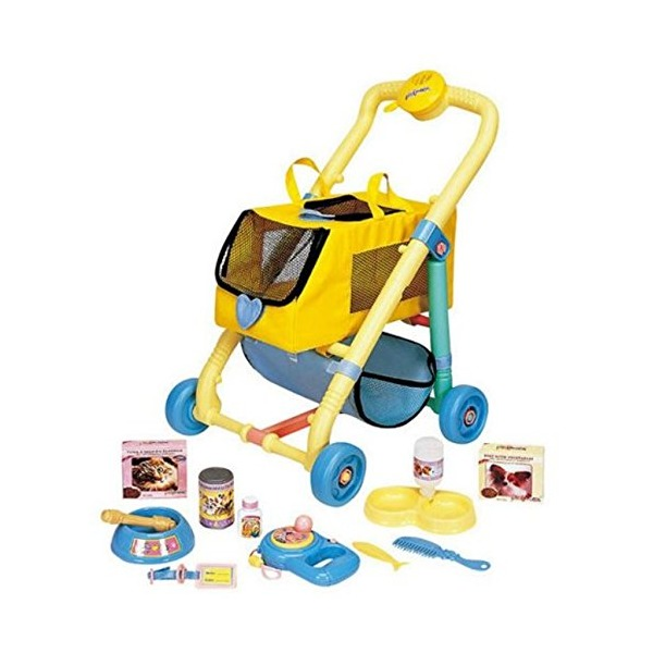 Pet Stroller - Toy pet stroller Perfect gift for kids. Carrier for your loved dolls, pets, or stuffed animals. Toy Carrier includes toy pet accessories