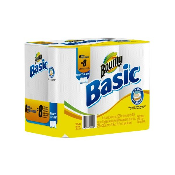 Basic Paper Towels 6 Select-A-Size Big Rolls