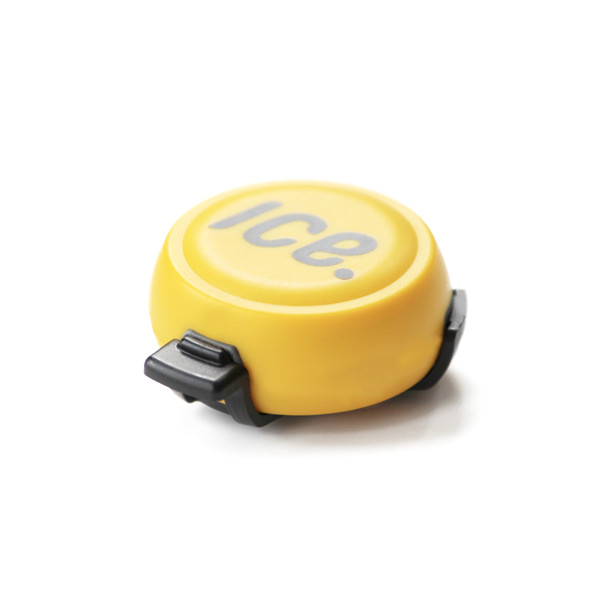 Bike Helmet Mounted Crash Sensor, Yellow