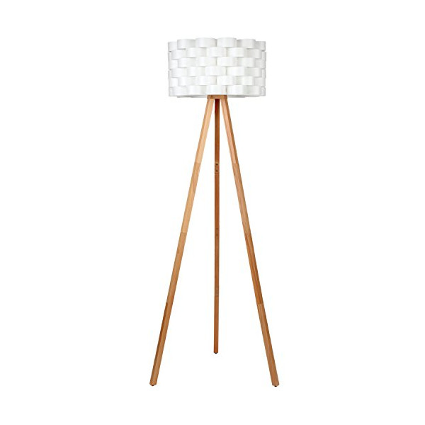 Brightech™ - Bijou Tripod Floor Lamp [Designer Series] - Made with All Natural Wood