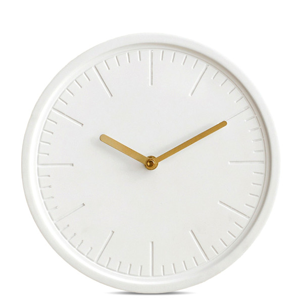 beautiful things online white wall clock ceramic 10 inch