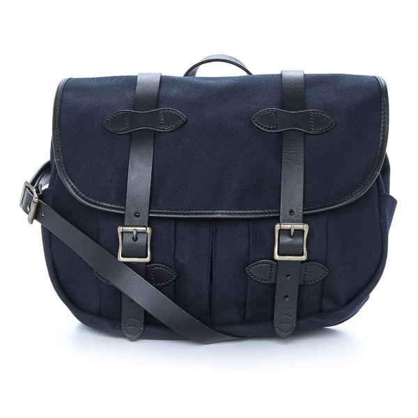 Filson Mens Twill Medium Field Bag, Navy