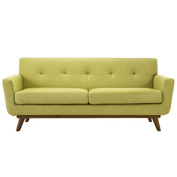LexMod Engage Upholstered Loveseat in Wheatgrass