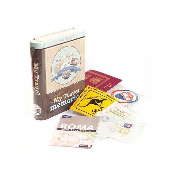 Memories Metal Keepsake Storage Tin Box Recipe Secrets Great Gift (Travel Memories Tin)