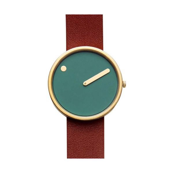 Rosendahl Watch - PICTO Leather - Green/Oxblood