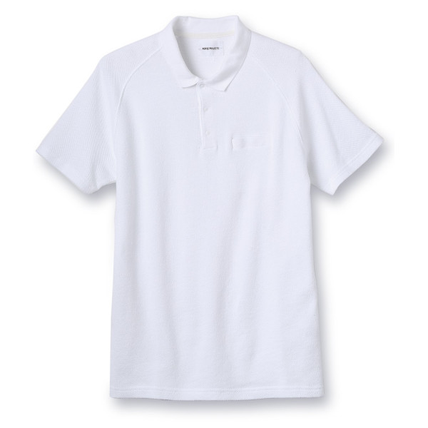 Norse Projects Men's Leif Pique Polo, White