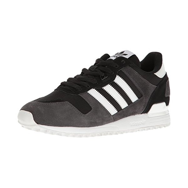 adidas Originals Men's ZX 700 Running Shoe, Black/White/Utility Black, 5 M US