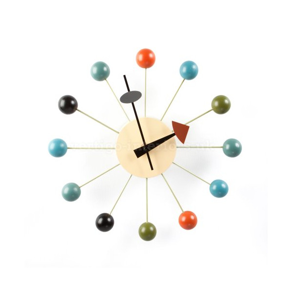 George Nelson Style Ball Wall Clock