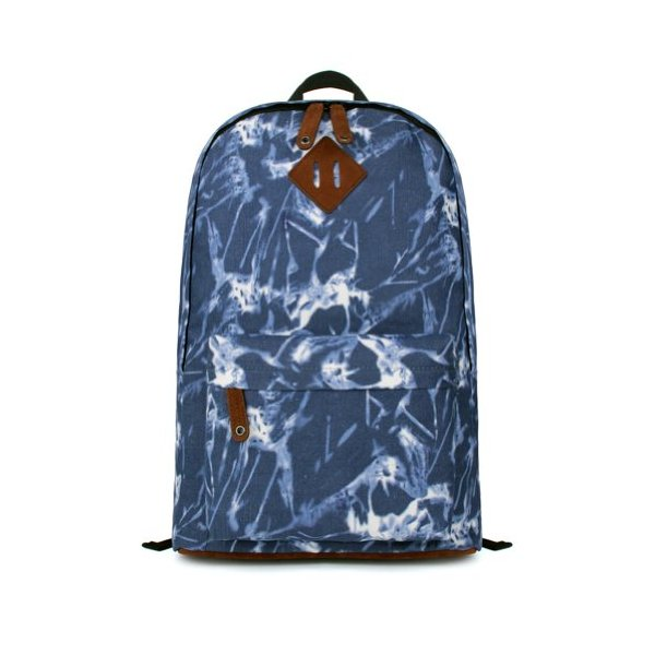 ZLYC Water Ripple Print Blue Denim School Backpack for Girls (blue)