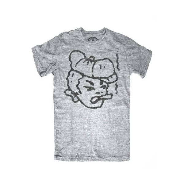 CXXVI Smoking Newsboy Shirt Grey Triblend Medium